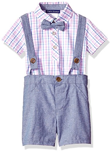 Bonnie Baby Baby Boy's Coveralls and Short Sets, Blue/Pink, 18M]()