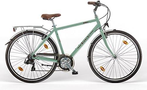 Blanchi. Bicicleta Spillo Rubino Deluxe 21V de hombre, celeste ...
