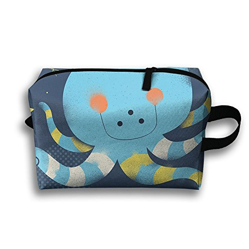 Travel Bags Cute Cartoon Squid Portable Storage Bag Clutch Wallets Cosmetic Bags Organizer Zipper Hangbag Carry Case