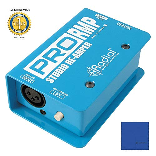 Radial Engineering ProRMP Studio Re-Amper Passive Re-Amping Direct Box with Microfiber and 1 Year Everything Music Extended Warranty