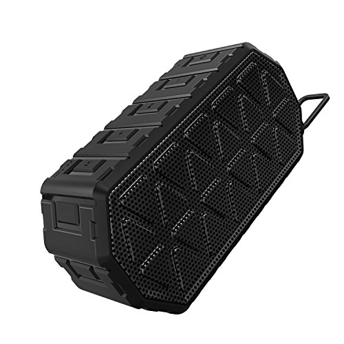 Outdoor Portable Water-proof Bluetooth Speaker, Fetta IP66 Dustproof and Shockproof Wireless Speaker Support Line-in and Hand-free Calling for Indoor and Outdoor Use (Black)