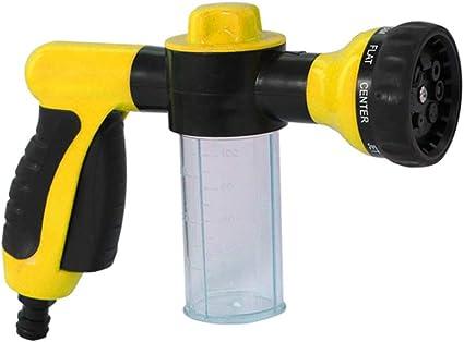 Carrfan Pulverizador de Espuma Manguera de Agua de Jardín Boquilla de Espuma Dispensador de Jabón Pistola para Lavado de Autos Mascotas Ducha Plantas Riego: Amazon.es: Coche y moto