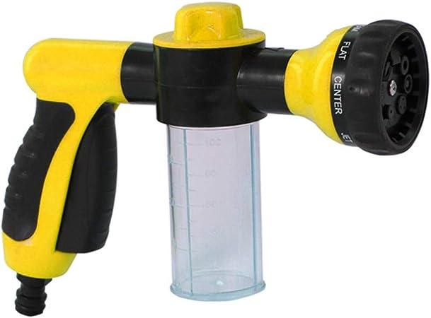 Pulverizador de espuma Manguera de agua de jardín Boquilla de espuma Dispensador de jabón Pistola para lavado de autos Mascotas Ducha Plantas Riego: Amazon.es: Bricolaje y herramientas