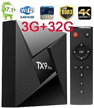TX9 Pro Octa Core 32GB//3GB Dual Wifi 5G//Bluetooth 1080p 4K 3D Android 7.1 TV Box