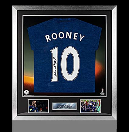 2c85779f884 Image Unavailable. Image not available for. Color  Wayne Rooney Official  Uefa Europa League Back Autographed Signed And Framed Manchester United ...
