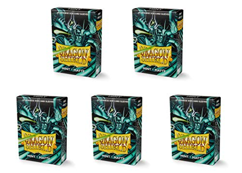 5 Packs Dragon Shield Matte Mini Japanese Mint 60 ct Card Sleeves Value Bundle!