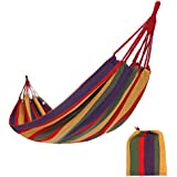CAMEL CROWN Cotton Single Camping Hammock Lightweight Portable Colorful for Backpacking,Hiking,Garden,Household,Indoor & Outdoor