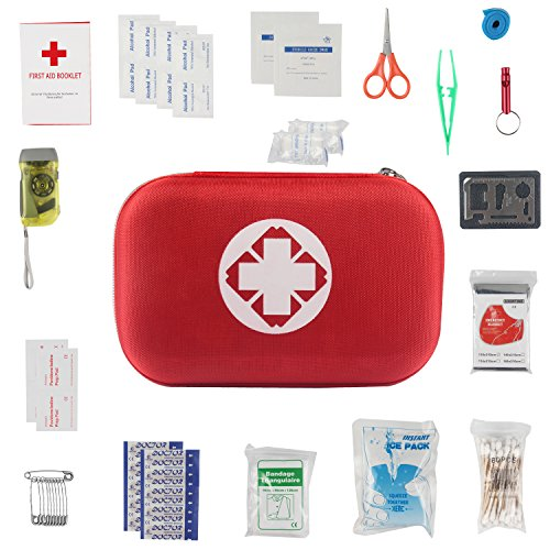 SOMA First Aid Kit 19 in 1 Durable Nylon Survival Kit with Zipper for Emergency Home Outdoors Car Camping Hiking
