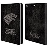 Official HBO Game Of Thrones Stark Dark Distressed Sigils Leather Book Wallet Case Cover For Apple iPad mini 1 / 2 / 3