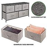 mDesign Wide Dresser Storage Tower - Sturdy Steel