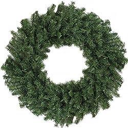 "Darice 24"" Canadian Pine Artificial Christmas Wreath - Unlit"