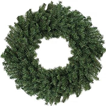 darice 24 canadian pine artificial christmas wreath unlit