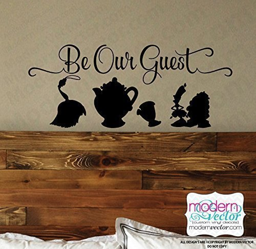 Beauty And The Beast Be Our Guest Vinyl Wall Decal