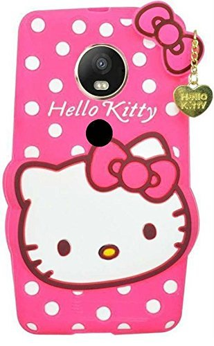 super popular c97ce 2aaaa Anvika Hello Kitty Back Case Cover for Moto C Plus - Pink
