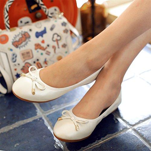 Zapatos planos, zapatos ocasionales de vestido de maternidad del verano Blanco