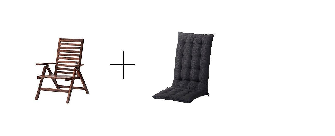 Remarkable Amazon Com Ikea Reclining Chair Outdoor Brown Foldable Machost Co Dining Chair Design Ideas Machostcouk