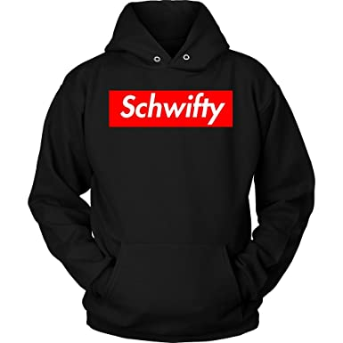516025fb95d5 Schwifty Hoodie Supreme Logo Parody Get Schwifty Unisex Hoodie made in USA  by Awesome eMERCHency (