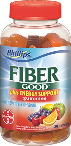 Phillips' Fiber Gummies Plus Energy, 80 Count