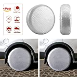 Kohree Tire Covers Tire Protectors RV Wheel Motorhome Wheel Covers Sun Protector Waterproof Aluminum Film, Cotton Lining Fits 27'' to 29'' Tire Diameters Set of 4