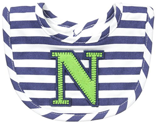 Mud Pie Baby-Boys Newborn N Initial Boy Bib, Blue, One Size (Bib Initial Baby)