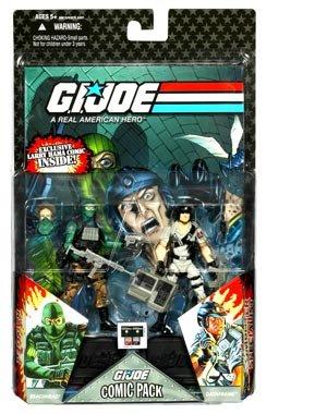 G.I. JOE Hasbro Action Figures Comic Book- 2-Pack Beachhead and Dataframe