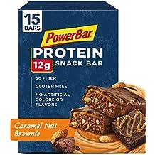 PowerBar Protein Snack Bar, Caramel Nut Brownie, 50 Gram, 1.76 Ounce (Pack of 15)