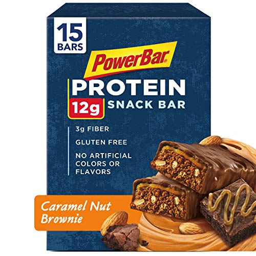 Cheap PowerBar Protein Snack Bar, Caramel Nut Brownie, 50 Gram, 1.76 Ounce (Pack of 15)