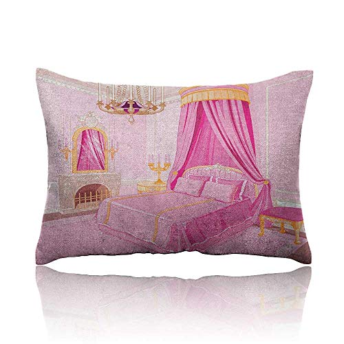 Anyangeight Princess Throw Pillowcase Interior of Magic Princess Bedroom Old Fashioned Ornament Pillow Mirror Print Cold Pillowcase 13