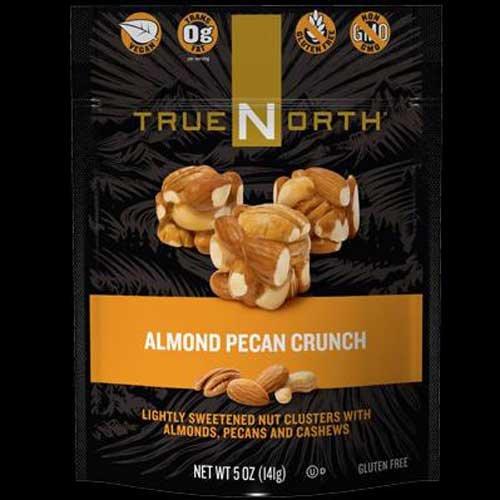 True North Almond Pecan Crunch Snacks, 5 Ounce - 6 per case.