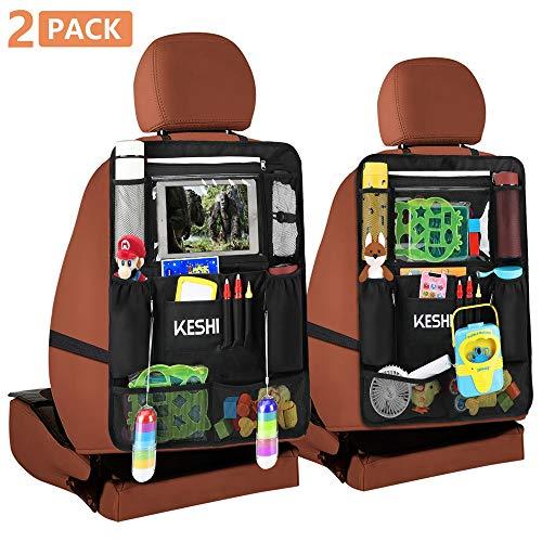 Car Organizer Back Seat - Kick Mats Back Seat Protector with 10