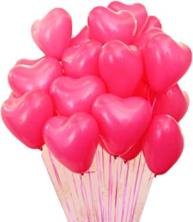 Alien Storehouse 10 Inches Heart Shape Latex Balloons for Wedding Party Festival Decoration 100 Pcs - 49