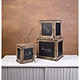 Chalkboard Display Cases Set Of 3