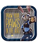 American Greetings Zootopia Square Plate (8 Count), 7