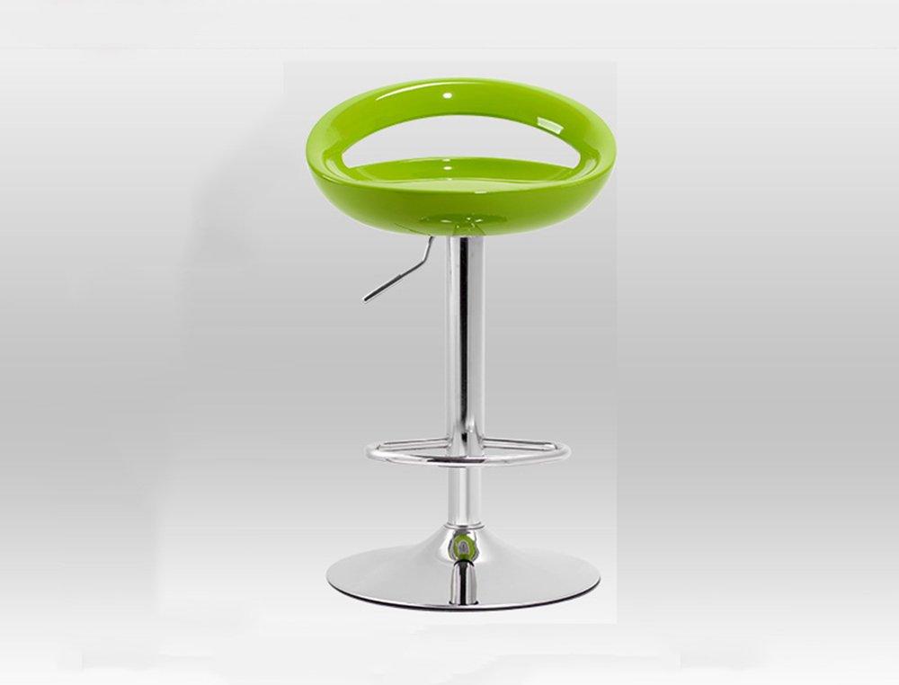 スツールヨーロッパは、回転バーを上げることができますクリエイティブ高い椅子ヨーロッパのレトロバースツール複数色 (色 : 緑) B07CGY3H1B 緑 緑