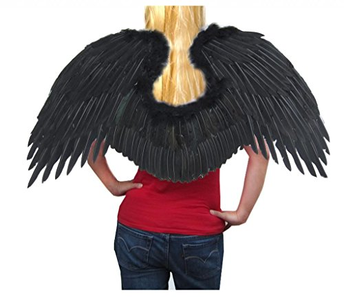 SACASUSA (TM Super Large Feather Fairy Angel Wings in Black for $<!--$29.98-->
