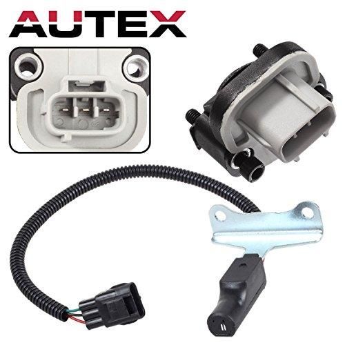 AUTEX 1pc Throttle Position Sensor & Crankshaft Position Sensor PC127 TH190 compatible w/Dodge B1500 B2500 B3500 Dakota Durango Ram 1500/1500 Van 2500/2500 Van 3500/3500 Van Jeep Grand ()