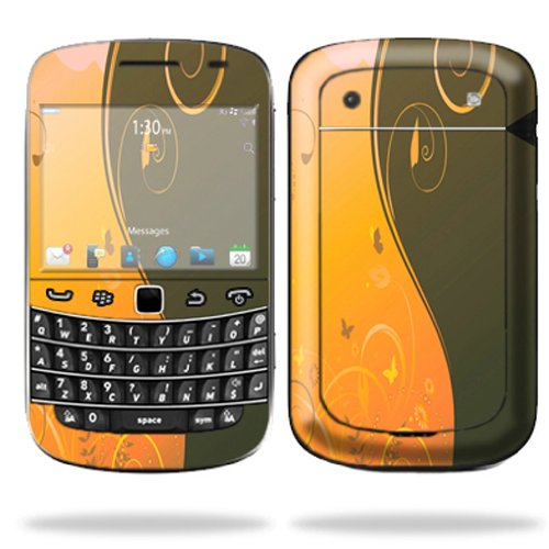 Mightyskins Protective Skin Decal Cover for Blackberry Bold 9900 or 9930 Cell Phone wrap sticker skins Butterfly Garden