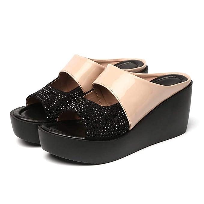 Amazon.com: Hyuniture Zapatillas de playa de tacón alto para ...
