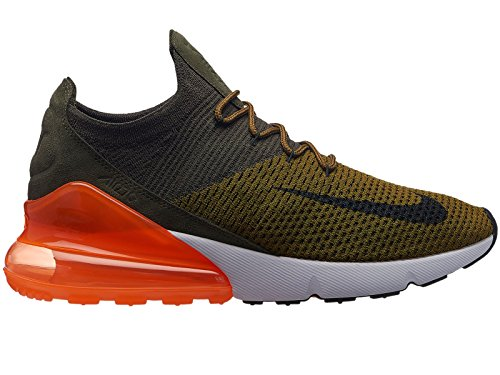e8c19099cb7652 Galleon - NIKE Men s Air Max 270 Flyknit Olive Flak Black Cargo Khaki Nylon  Basketball Shoes 9.5 M US
