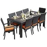 RST Brands OP-PETS9-TKA-K Deco Tikka 9-Piece Patio Furniture Dining Set