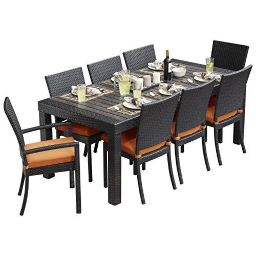 RST Brands OP-PETS9-TKA-K Deco Tikka 9-Piece Patio Furniture Dining Set by RST Brands