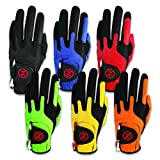 Zero Friction Men's Compression-Fit Synthetic Golf Glove, Universal Fit One Size, Multipack