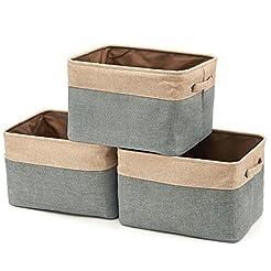 Collapsible Large Storage Bins Basket [3...