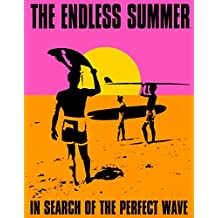 Endless Summer Movie Holding Surfboard Retro Vintage Tin Sign - 13x16