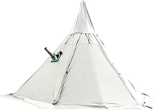 WINTENT 4 Season Waterproof Teepee Tent with Stove Jack for Camping Hiking, Height 7.8FT 240CM