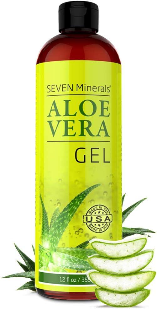 Organic Aloe Vera Gel with 100% Pure Aloe