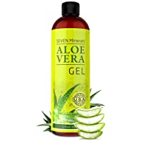 Organic Aloe Vera Gel with 100% Pure Aloe From Freshly Cut Aloe Plant, Not Powder...