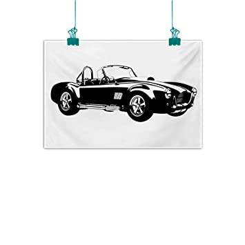 Shelby Cobra Classic Sports Car Poster Art Print Black /& White Card or Canvas
