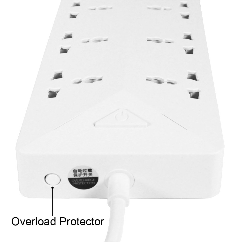 Remax Power Strip With Usb Ports 6 Way Outlets 5 Surge Protection Universal Socket 18 Extension Cord Charger For Car 3 Output Saver 36a White
