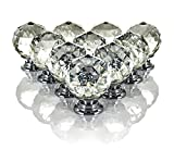 FiNeWaY@ TOP QUALITY SET OF 10 DRAWER DOOR KNOB CRYSTAL DIAMOND CUPBOARD WARDROBE FURNITURE HANDLE IDEAL FOR WARDROBES, CABINETS,DRAWERS,CUPBOARDS ETC.